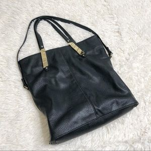 Bcbgeneration black leather tote purse bag gold